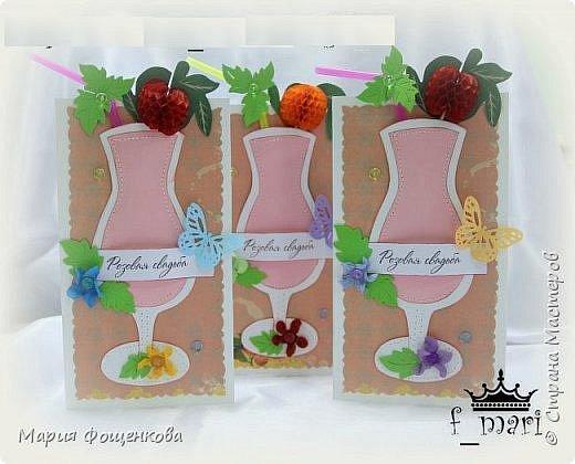 Приглашения на годовщину свадьбы... По прошествии 10 лет празднуется розовая свадьба, а эта годовщина была еще и в гавайском стиле фото 1