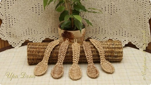 Я долго думала снимать или не снимать видео по плетению ложки, потому что существует несколько версий, но не смотря на это,я решила показать вам свой метод плетения.  фото 1
