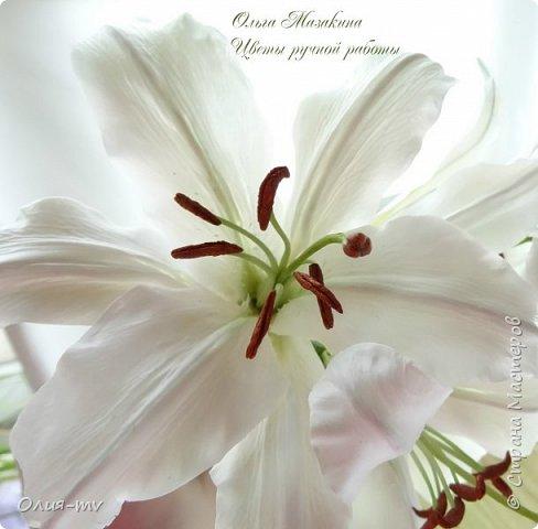 Настал мой черед попробовать слепить лилию. Спасибо заказчице, сама бы я до нее не скоро  дошла:)  фото 2