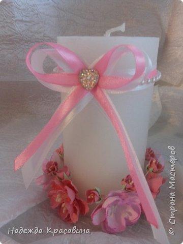 Всем привет! Хочу вам показать свою первую большую работу! Скоро состоится свадьба моей младшей сестренки и я решила сделать для нее такой наборчик. По заказу невесты все выполнено в розовом цвете. Ну а теперь все по отдельности... фото 19