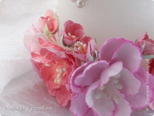 Всем привет! Хочу вам показать свою первую большую работу! Скоро состоится свадьба моей младшей сестренки и я решила сделать для нее такой наборчик. По заказу невесты все выполнено в розовом цвете. Ну а теперь все по отдельности... фото 21