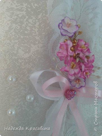 Всем привет! Хочу вам показать свою первую большую работу! Скоро состоится свадьба моей младшей сестренки и я решила сделать для нее такой наборчик. По заказу невесты все выполнено в розовом цвете. Ну а теперь все по отдельности... фото 3