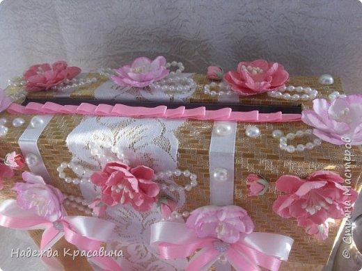 Всем привет! Хочу вам показать свою первую большую работу! Скоро состоится свадьба моей младшей сестренки и я решила сделать для нее такой наборчик. По заказу невесты все выполнено в розовом цвете. Ну а теперь все по отдельности... фото 30
