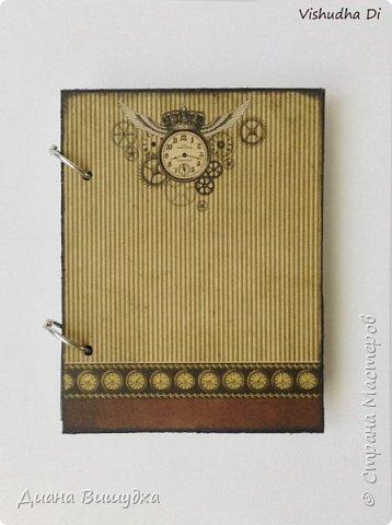 Простой и лаконичный мужской блокнот в стиле стимпанк. фото 1