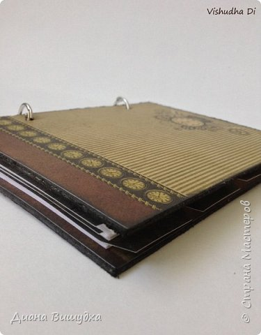Простой и лаконичный мужской блокнот в стиле стимпанк. фото 5