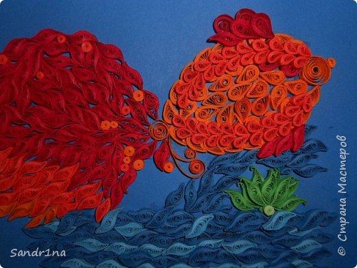 Квиллинг золотая рыбка фото 2