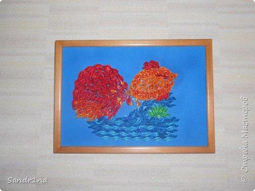 Квиллинг золотая рыбка фото 1
