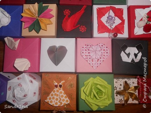 Коробочки оригами фото 25