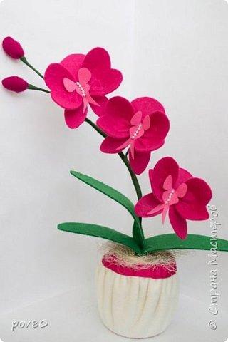 Такой цветок из фетра у меня получился . Очень мне захотелось поработать с этим материалом. фото 2