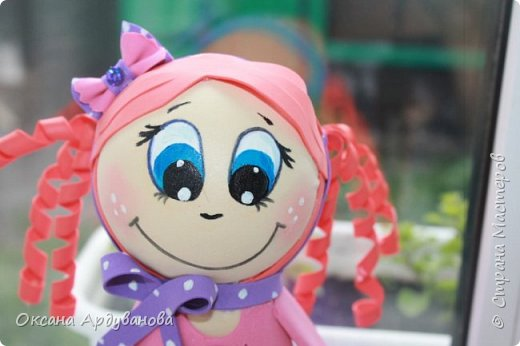 Первая моя кукла из фоамирана! фото 4