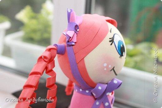 Первая моя кукла из фоамирана! фото 5
