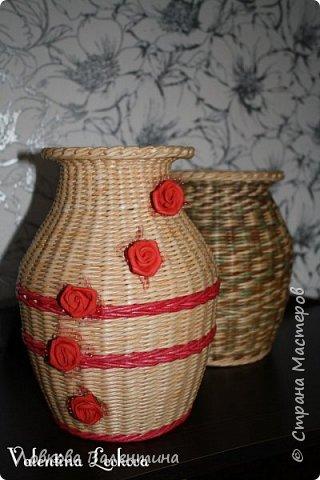 Давно хотела сплести вазу)))мечта сбылась)) фото 7