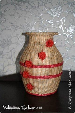 Давно хотела сплести вазу)))мечта сбылась)) фото 5