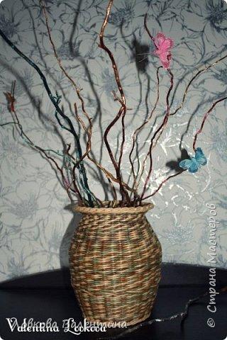 Давно хотела сплести вазу)))мечта сбылась)) фото 3