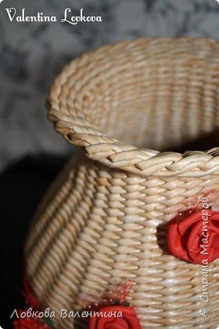 Давно хотела сплести вазу)))мечта сбылась)) фото 6