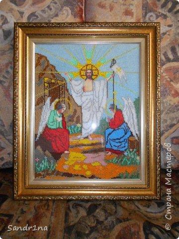 """Икона бисером """"Воскресение Христа""""  фото 2"""