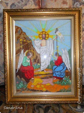"""Икона бисером """"Воскресение Христа""""  фото 1"""