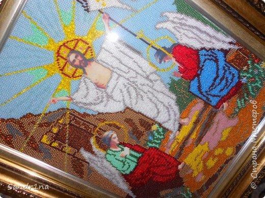 """Икона бисером """"Воскресение Христа""""  фото 3"""
