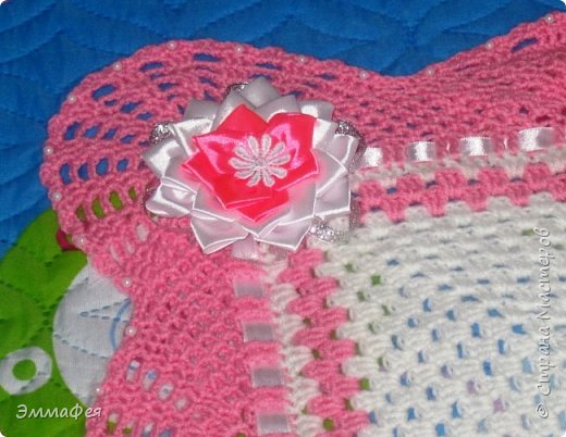 Выписное одеялко для моей принцессы связала бабушка. фото 2