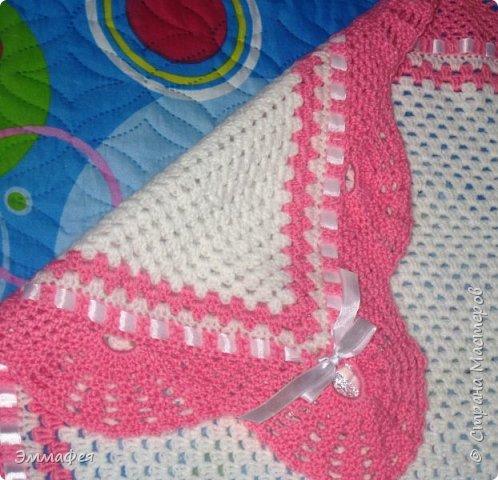 Выписное одеялко для моей принцессы связала бабушка. фото 3