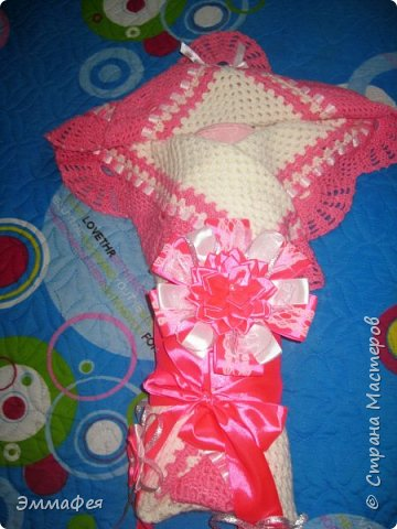 Выписное одеялко для моей принцессы связала бабушка. фото 5