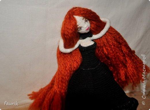 Новенькая девочка, 27 рост. Волосы акрил, крючок 0,75, проволочный каркас фото 14