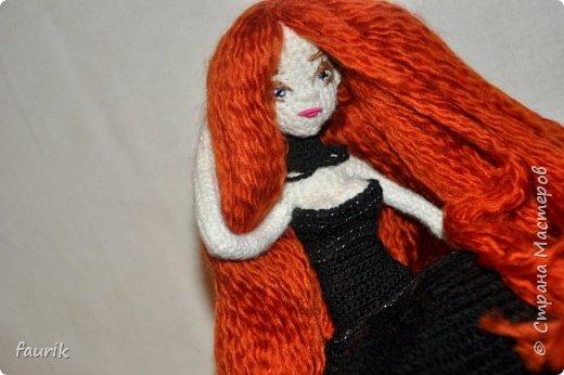 Новенькая девочка, 27 рост. Волосы акрил, крючок 0,75, проволочный каркас фото 16