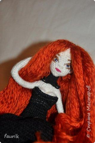 Новенькая девочка, 27 рост. Волосы акрил, крючок 0,75, проволочный каркас фото 17