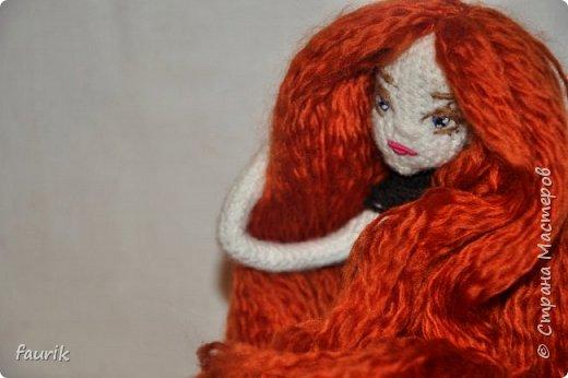 Новенькая девочка, 27 рост. Волосы акрил, крючок 0,75, проволочный каркас фото 19