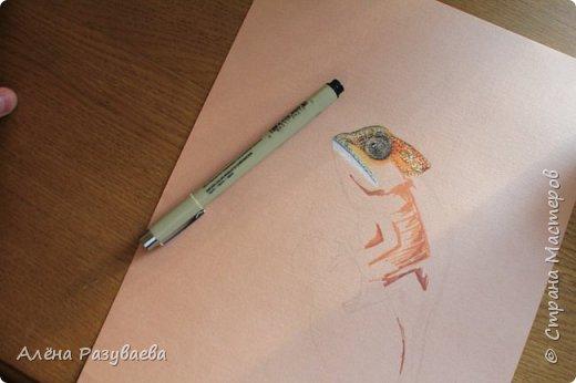 На создание этого крокодила меня вдохновило видео speed-drawing от Marcello Barenghi фото 4