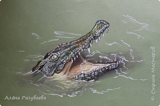 На создание этого крокодила меня вдохновило видео speed-drawing от Marcello Barenghi фото 2