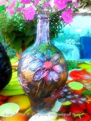 """Всем привет! Девочки , вазы разной формы из стеклянных бутылок """"Быстрее не бывает"""" или как я их делаю. Специально для Валентины Острицовой и Натали ( Рудбекия). фото 21"""