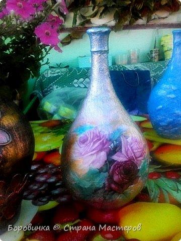 """Всем привет! Девочки , вазы разной формы из стеклянных бутылок """"Быстрее не бывает"""" или как я их делаю. Специально для Валентины Острицовой и Натали ( Рудбекия). фото 20"""