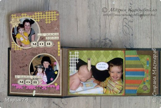 Ну, наконец-то я могу показать свой альбомчик про двух сестричек, который я делала в подарок для своей подруги - на ДР одной из сестер. Закончила свой знатный долгострой! Уже подарено, Кате очень понравилось - теперь и вам покажу. фото 15