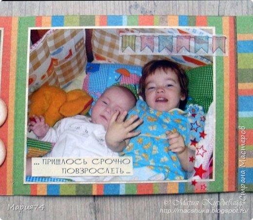 Ну, наконец-то я могу показать свой альбомчик про двух сестричек, который я делала в подарок для своей подруги - на ДР одной из сестер. Закончила свой знатный долгострой! Уже подарено, Кате очень понравилось - теперь и вам покажу. фото 19