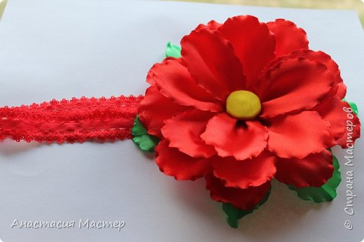 Нежный летний пышный цветок для девочки от 0 до 6 лет. Повязка  хорошо тянется,но надёжно фиксируется на голове. Размер цветка 14,5 см, ширина повязки 2 см. фото 2