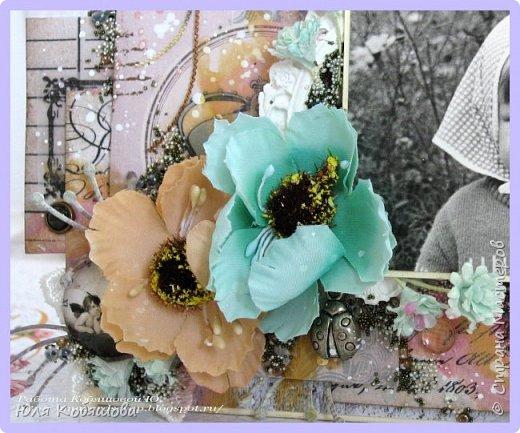 я сегодня с новой работой, просматривала на днях видео Лены Моргун и прям так вдохновилась ее творениями, что руки сами сотворили вот такую стоечку с фотографией.  Угадайте, кто эта щекастая девочка. Да, да, это я. фото 2