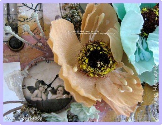 я сегодня с новой работой, просматривала на днях видео Лены Моргун и прям так вдохновилась ее творениями, что руки сами сотворили вот такую стоечку с фотографией.  Угадайте, кто эта щекастая девочка. Да, да, это я. фото 4