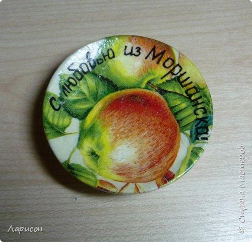 Сделала панно для дачи... Это герб дачи с яблочком, заготовки на полочке и цветочки(мне попались два слова кофе-цветы и я их использовала и в панно и в отдельном изделии - в брошке... фото 3
