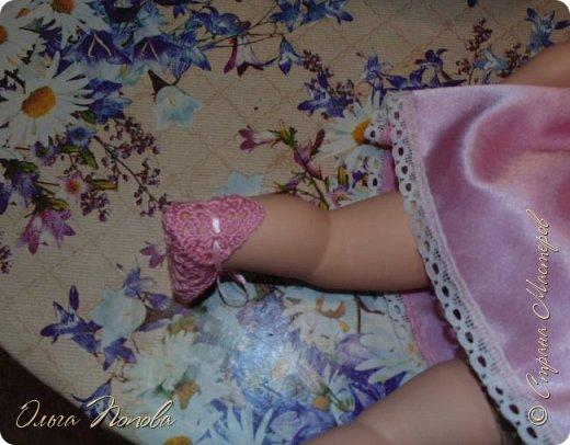 У Лилечки Приветик для куколки Лили связан замечательный наряд  http://stranamasterov.ru/node/1036708 Но не хватало босоножек. Кукла Наташа, решила ей помочь в изготовлении обувки.  Для вязания я брала нитки Ирис, но можно взять любые, какие понравятся вашей кукле. ) фото 14