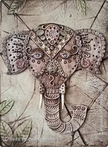 """Панно """"Индийский слон"""". 30х40см. фото 1"""