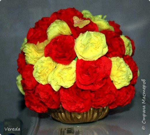 Цветы из салфеток по МК Марии Кац. фото 2
