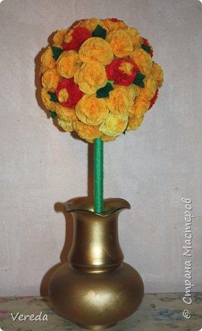 Цветы из салфеток по МК Марии Кац. фото 3