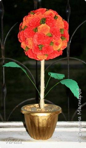 Цветы из салфеток по МК Марии Кац. фото 4