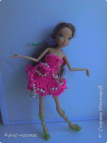 Привет, страна мастеров! Сегодня у меня хорошее настроение. Потому что... у меня новенькая!! Как только она приехала, сразу связала для неё платье.  фото 3