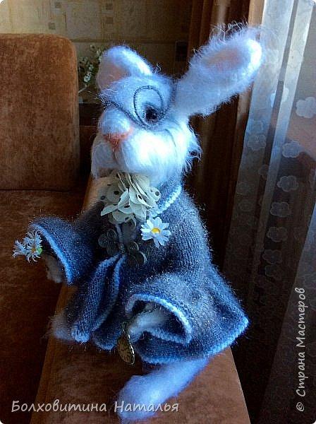 """Белый Кролик из """"Алисы в стране чудес"""", связан по МК Елены Фортыгиной фото 7"""