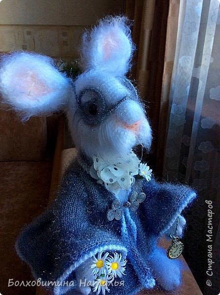 """Белый Кролик из """"Алисы в стране чудес"""", связан по МК Елены Фортыгиной фото 8"""