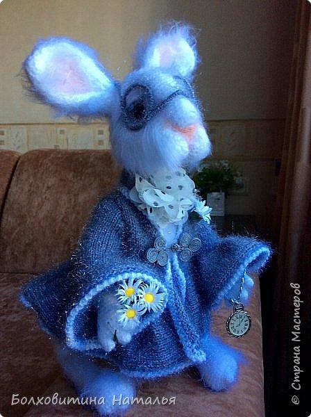 """Белый Кролик из """"Алисы в стране чудес"""", связан по МК Елены Фортыгиной фото 1"""