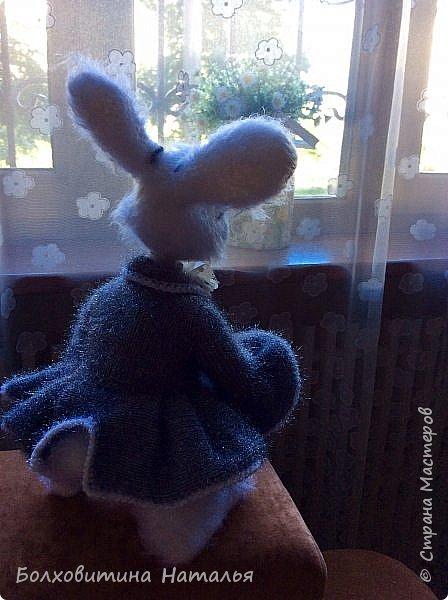 """Белый Кролик из """"Алисы в стране чудес"""", связан по МК Елены Фортыгиной фото 4"""