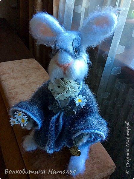 """Белый Кролик из """"Алисы в стране чудес"""", связан по МК Елены Фортыгиной фото 5"""